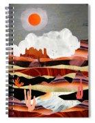 Coral Desert Lake Spiral Notebook