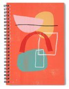 Coral Modern Abstract 2- Art By Linda Woods Spiral Notebook