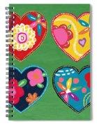 Corazon 1- Art By Linda Woods Spiral Notebook
