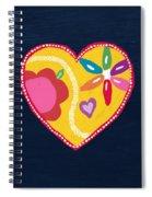 Corazon 4- Art By Linda Woods Spiral Notebook