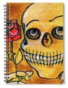 Corazon Sugarskull Holding Rose Spiral Notebook