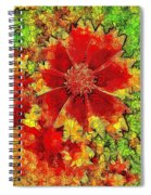 Coreopsis Abstract Spiral Notebook