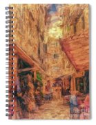 Corfu Town Street Scene Spiral Notebook