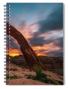 Corona Arch At Sunrise Spiral Notebook