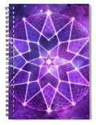 Cosmic Purple Geometric Seed Of Life Crystal Lotus Star Mandala Spiral Notebook