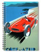 Cote D Azur, French Rivera Vintage Racing Poster Spiral Notebook
