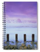 Cotton Candy Skies Over The Sea Spiral Notebook