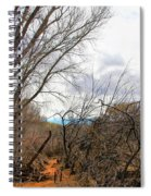 Cottonwood Arizona Jail Trail Trees Path Sky Clouds 5229 Spiral Notebook