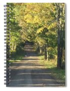 Country Road In Fall Spiral Notebook