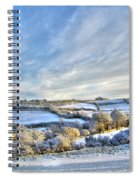 Countryside Winter Scene Spiral Notebook