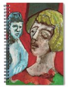 Couple In Front Of Red Wall Spiral Notebook