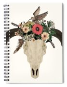 Cow Skull Flowers Spiral Notebook