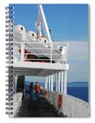 Cozy Walk -  Painterly Ferry To Victoria Spiral Notebook