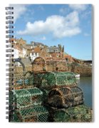Crail Harbour And Lobster Pots Spiral Notebook