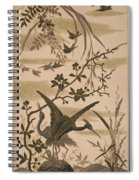 Cranes And Birds At Pond 1880 Spiral Notebook