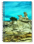 Crazy Rock Formations In New Mexico Spiral Notebook