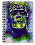 Frankenstein Watercolor Spiral Notebook