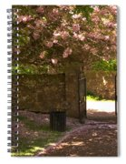 Crichton Church Entrance Gate And Tree In Pink Bloom Spiral Notebook