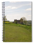 Crighton Castle Ruins And Hills, Midlothian Spiral Notebook