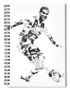 Cristiano Ronaldo Juventus Pixel Art 1 Spiral Notebook
