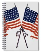 Crossed Civil War Union Flags 1861 - T-shirt Spiral Notebook