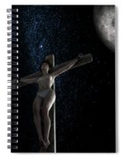Crucifiction Surreal Spiral Notebook