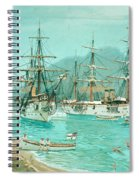 Cruiser And Gunboat Hoist On Ponape The German Flag Spiral Notebook