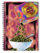 Crypto Flakes Red Spiral Notebook