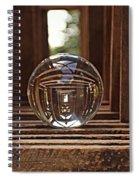 Crystal Ball In Wooden Lanterns Spiral Notebook