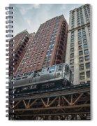 Cta Pink Line Train Spiral Notebook