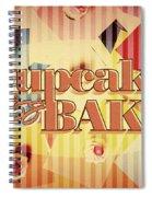 Cupcake Bake 1958 Spiral Notebook