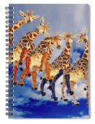 Curious Giraffes  Spiral Notebook