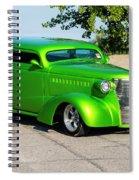 Custom 1938 Chevrolet 2 Door Coach  Spiral Notebook