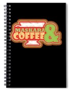 Cute Coffee Mascara Makeup Lovers Gifts Spiral Notebook