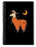 Cute Funny Sleepy Llama In Pajamas Bedtime Spiral Notebook