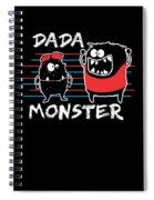 Dada Monster Cute Monster Cartoon For Kids And Dad Dark Spiral Notebook