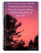 Daily Reminder Spiral Notebook