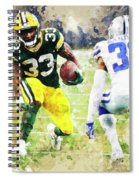 Dallas Cowboys Against Green Bay Packers. Spiral Notebook