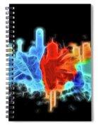 Dallas Neon Color Blast Spiral Notebook