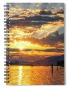 Dalton Point Sunrise Spiral Notebook