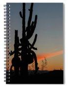 Dancing Saguaro Cactus Spiral Notebook