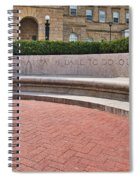 dare to do our duty - Madison -Wisconsin Spiral Notebook