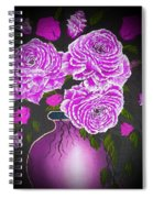 Dark And Delicious Roses In Pink Lilac Spiral Notebook