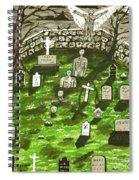 Dark Angel Of The Night Spiral Notebook