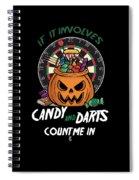 Darts Dart Pumpkin Jack O Lantern Halloween Spiral Notebook