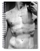 David Detail Marble Spiral Notebook
