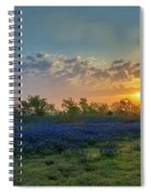 Daybreak In The Land Of Bluebonnets Spiral Notebook