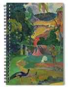 Death, Landscape With Peacocks, 1892 Spiral Notebook