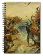 Debarquement De Saint Louis, A Damiette En Egypte, 1249 Spiral Notebook