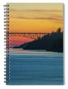 Deception Pass Bridge Sunset Light Spiral Notebook